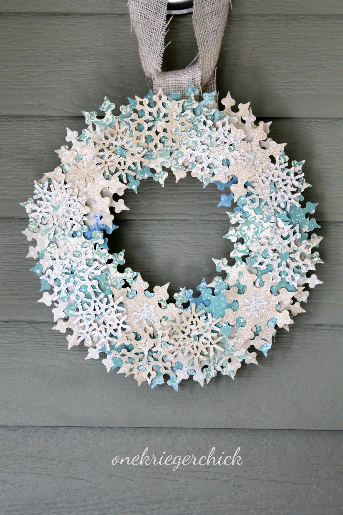 DIY Snowflake Wreath Christmas wreaths, Snowflake wreath