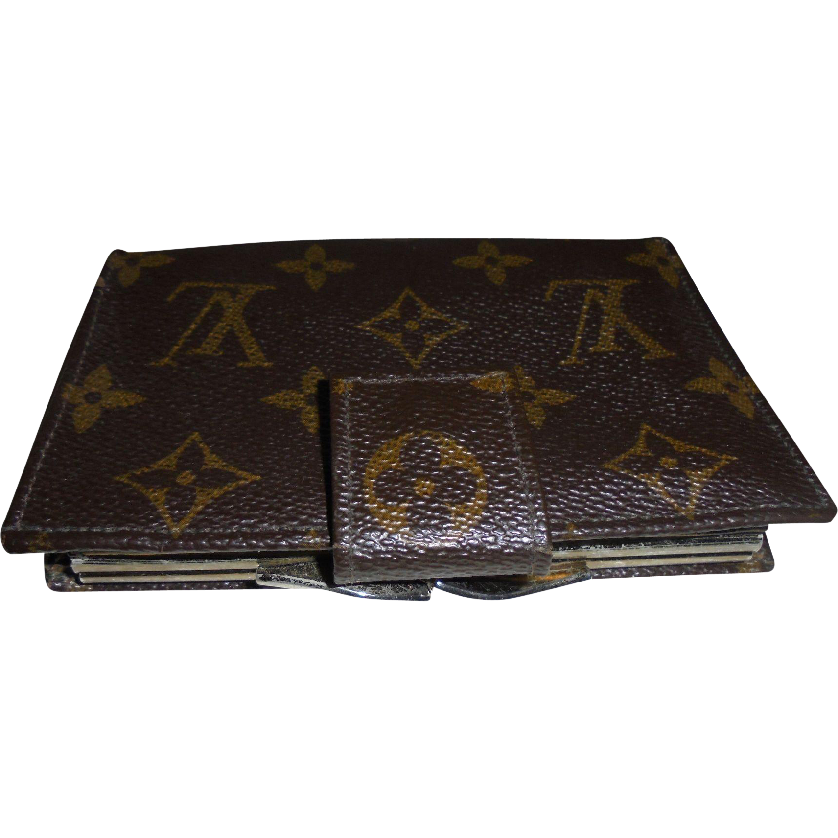 Vintage Louis Vuitton Wallet Made In Usa French Company Kisslock Clasp Found At Www Rubylane Com Louis Vuitton Wallet Louis Vuitton Vintage Louis Vuitton