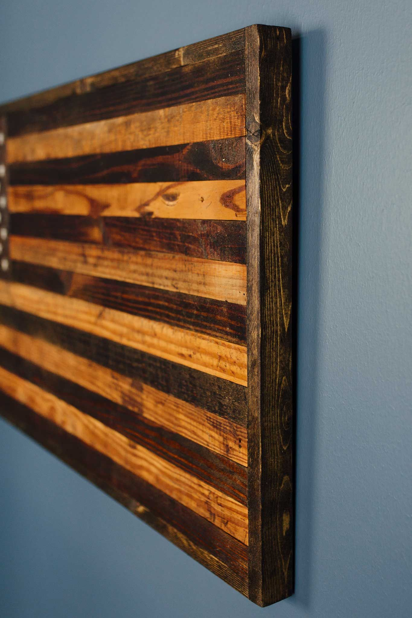 Reclaimed Barnwood Rustic American Flag Reclaimed Barnwood