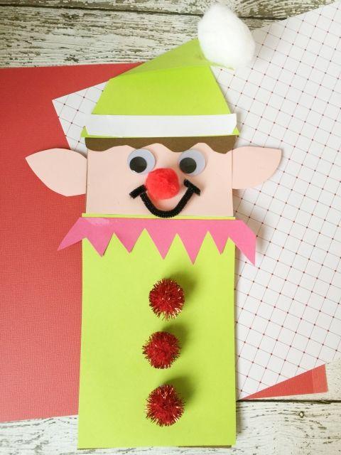 Christmas Elf Brown Paper Bag Craft For Kids Christmaswinter