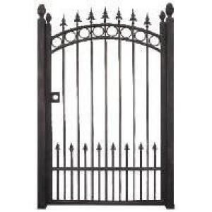 Trento 43 In Wide. Black Garden Metal Gate TRGG 124 At The Home Depot 400  Bucks And 6 Feet Tall