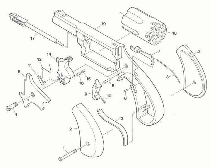 Parts Exploded View Long Rifle North American Arms