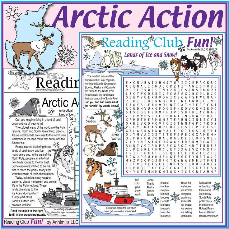 Arctic Action Puzzle Set Polar Regions Facts Vocabulary Rich Polar Region Polar Puzzle Set