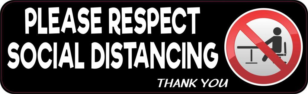 Stickertalk Please Respect Social Distancing Magnet 10 Inches X 3 Inches In 2020 Vinyl Sticker Vinyl Social Distance