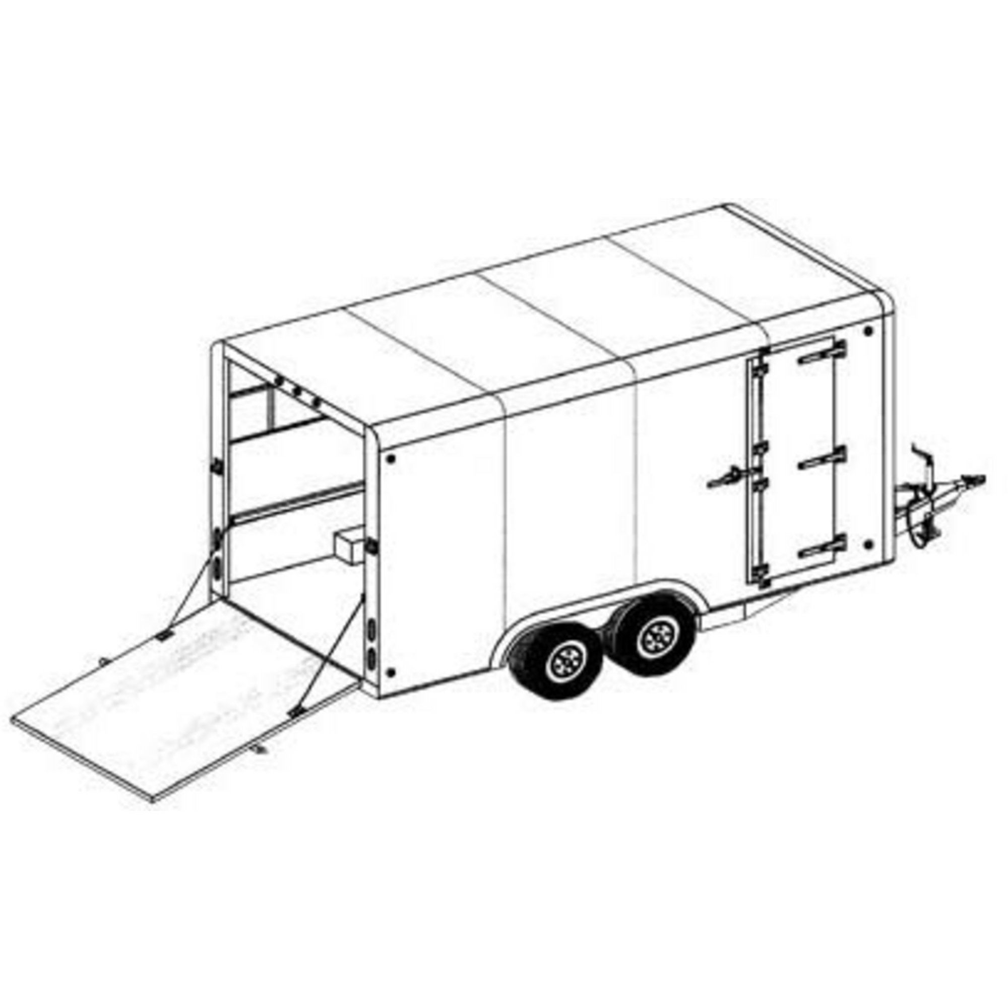 Covered Cargo Tandem Axle Trailer Blueprints in 2020