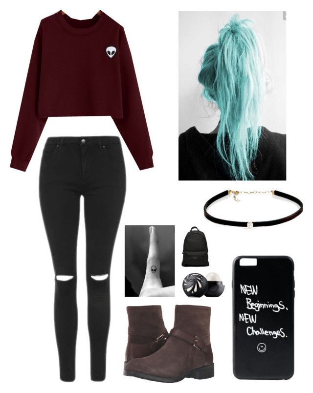 """""""Untitled #458"""" by lesleyrandom16 ❤ liked on Polyvore featuring Topshop, Cole Haan, Carbon & Hyde, Eos and Balenciaga"""