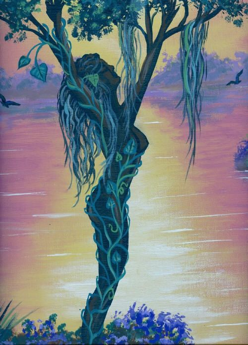 Woman Tree Tree Of Life Artwork Mother Earth Art Spiritual Art