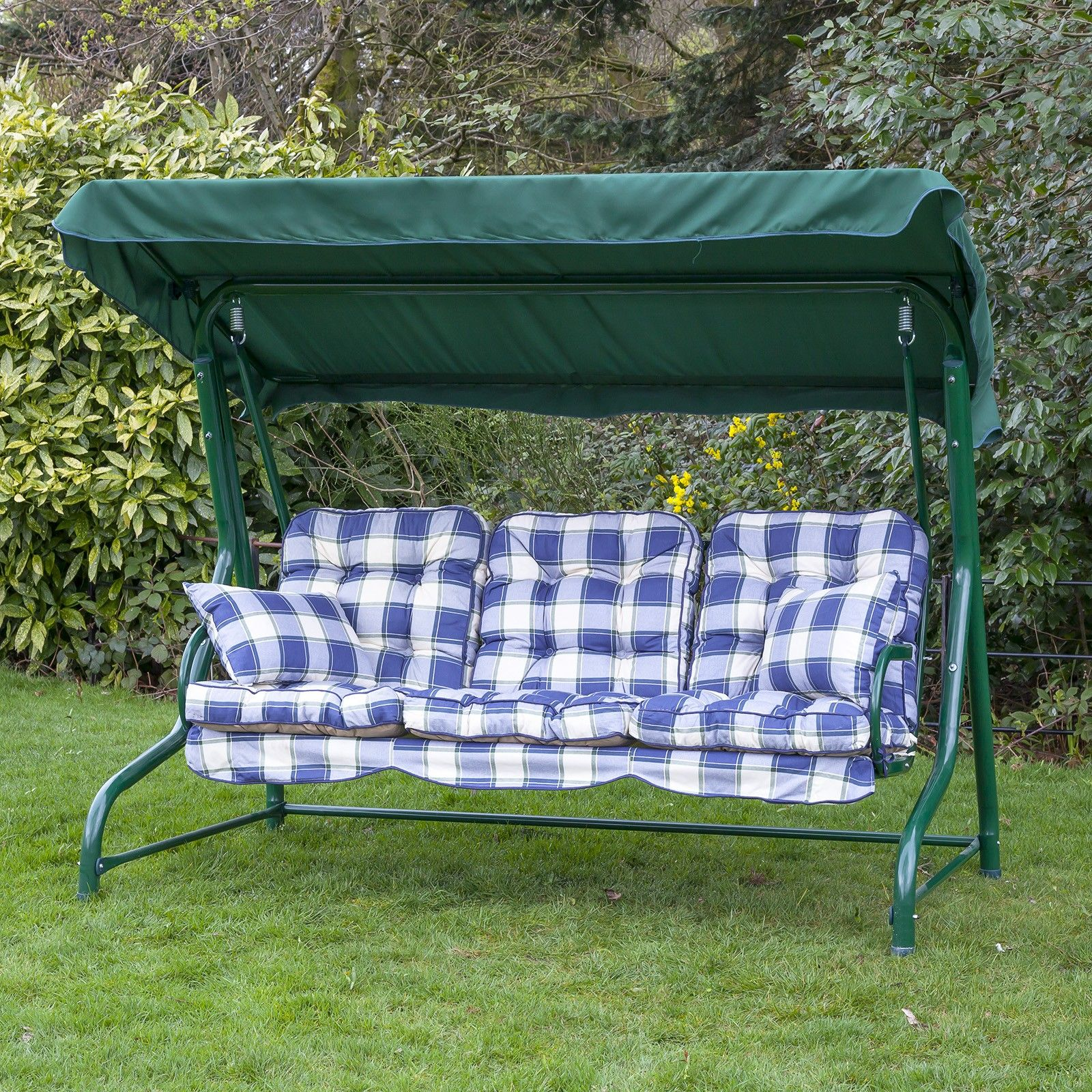 Luxury Traditional Garden Swing Seat Cushions 3 Seater
