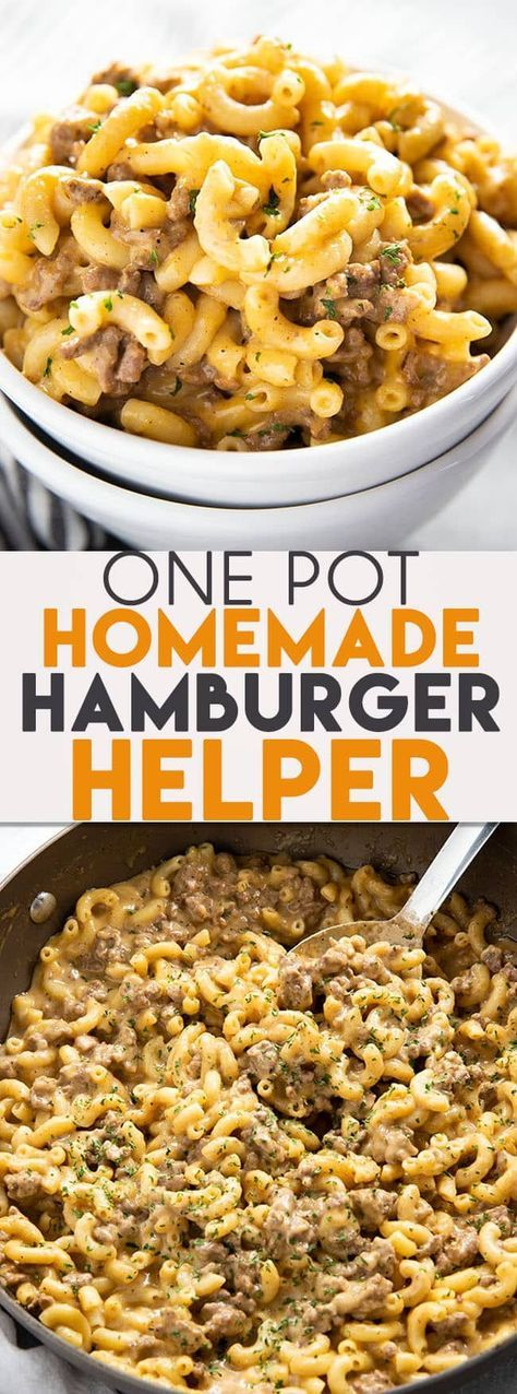 One Pot Homemade Hamburger Helper #easydinners