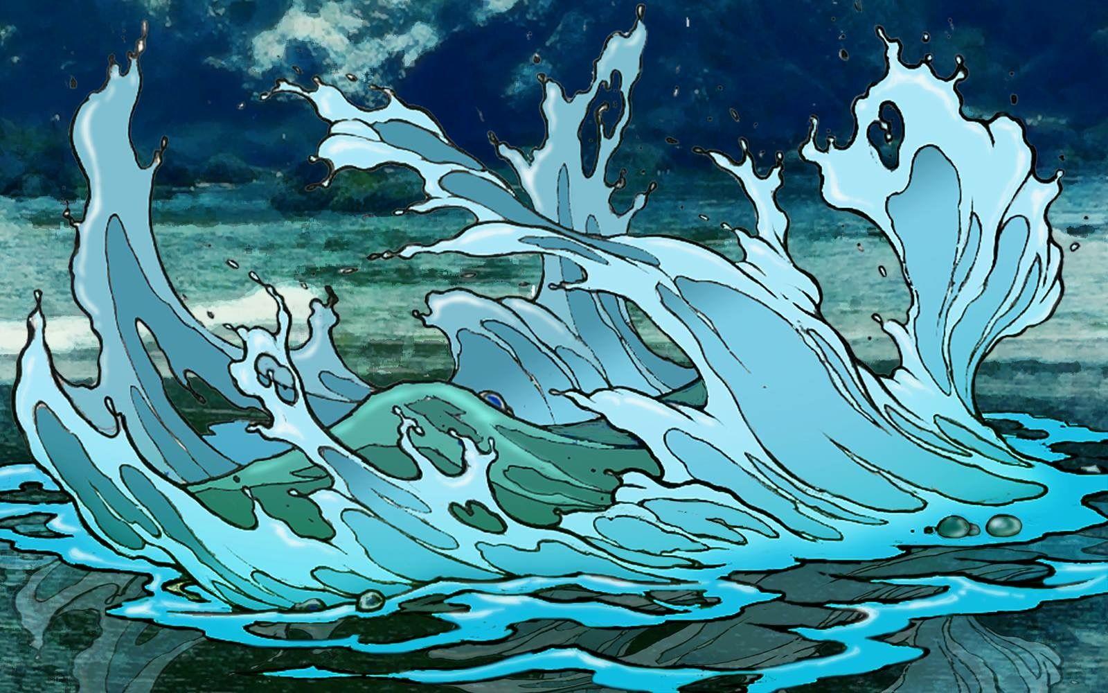 Jazno water artwork animation great wave