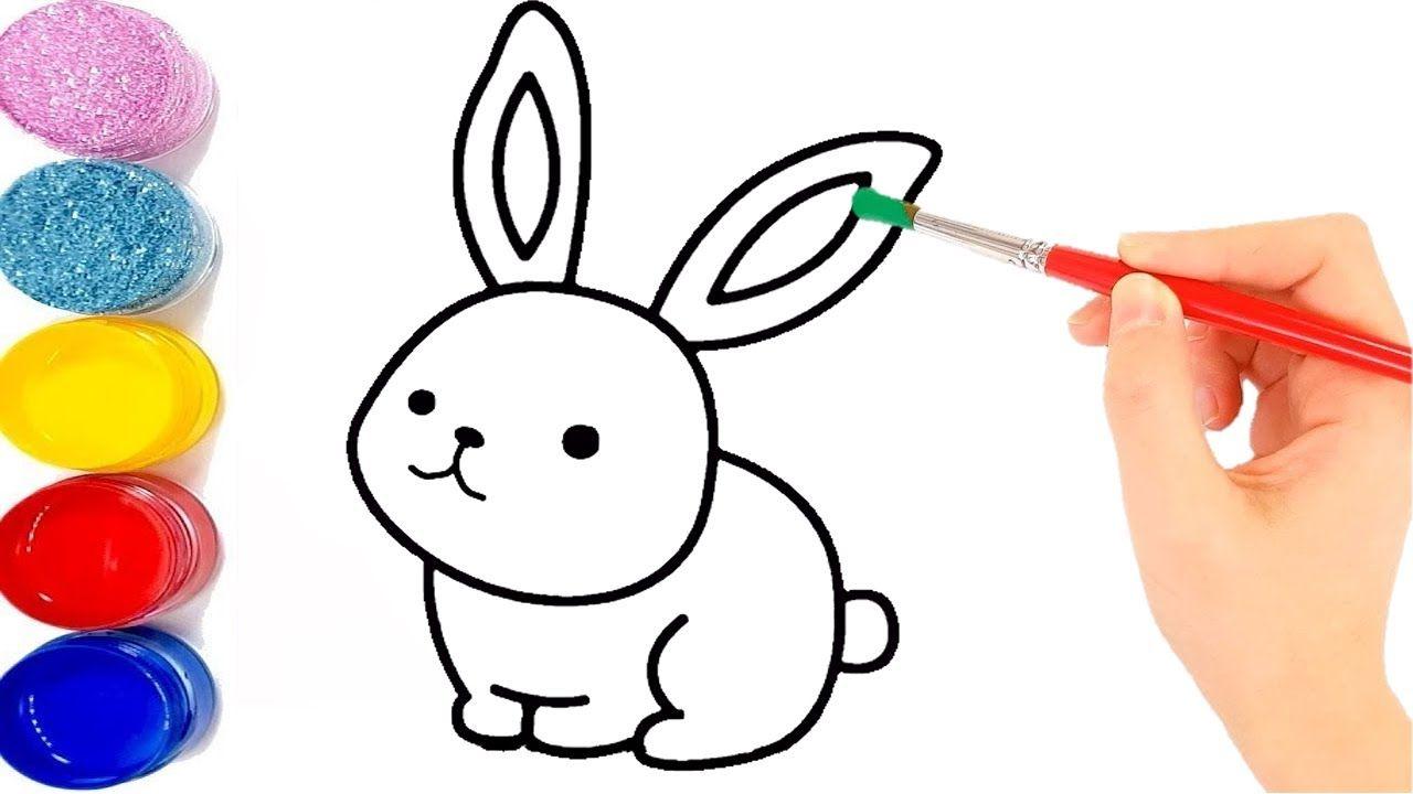 تعليم الرسم للاطفال تعلم رسم أرنب للاطفال رسم سهل جدا Hand Art Drawing Easy Drawings Drawings