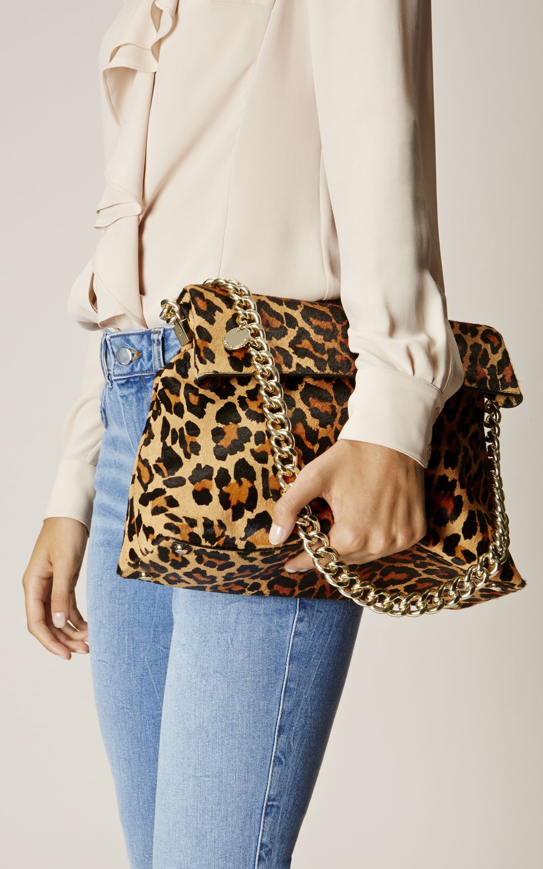 7d8b107f61c Karen Millen, REGENT SUEDE AND LEATHER BAG Leopard Print | Shoes ...