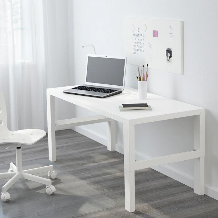 Pahl Desk White 50 3 8x22 7 8 Ikea In 2020 White Desks Desk Ikea