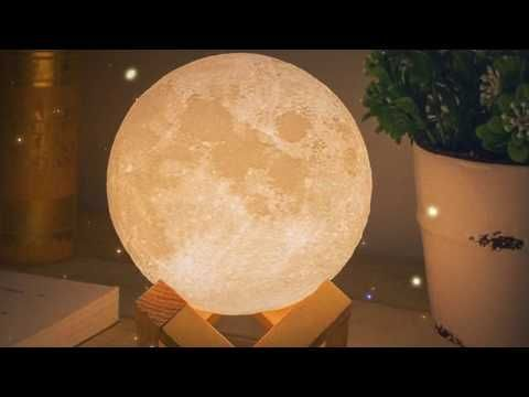 Luna Color Changing Magical Moon Lamp Wood Stand Mrmuggles Mond Lampe 3d Prints Lampen