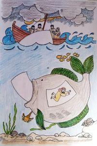 "arbeitskreis ""zeit für kids"" knutselwerkje jona bible craft jonah | sonntagsschule basteln"