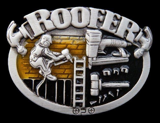 ROOFER BELT BUCKLE CONSTRUCTION WORKER ROOFERS HAMMER TOOLS EQUIPMENT #roofer #roof #rooferbuckle #rooferbeltbuckle #roofrepairman #roofrepairmanbuckle #beltbuckle #buckles