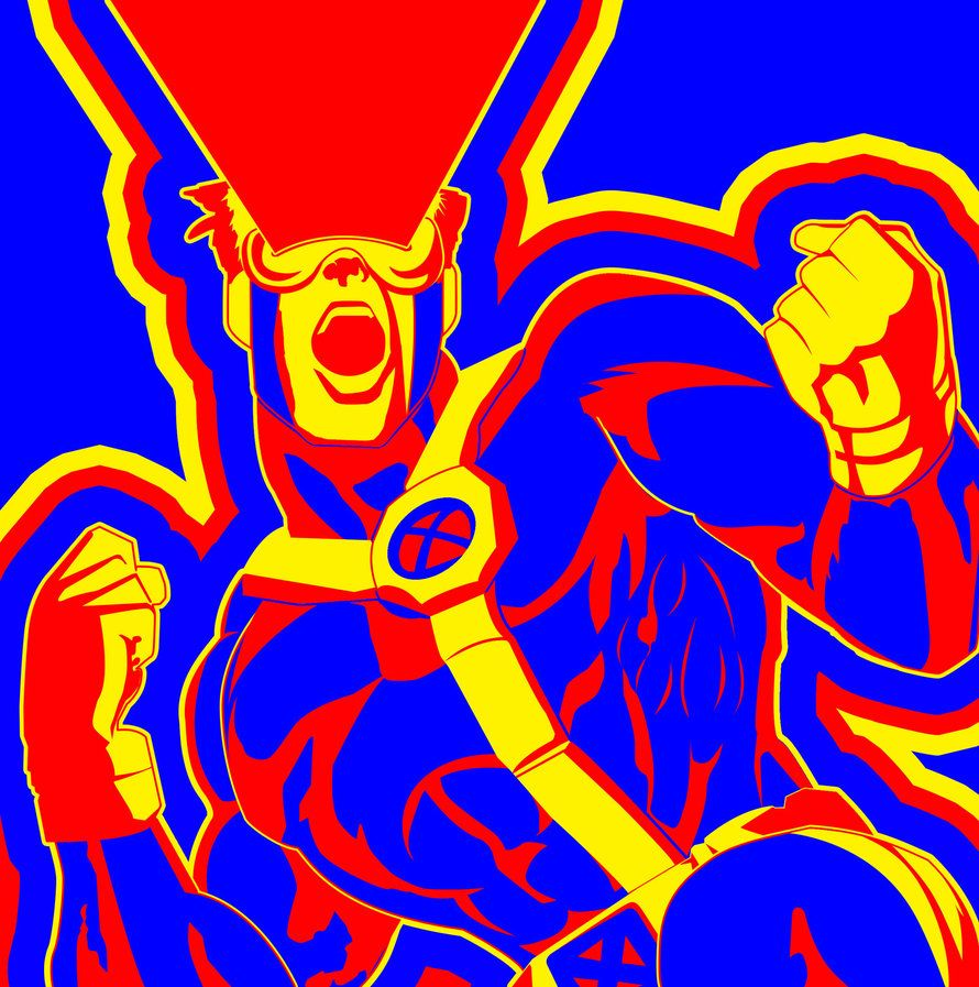 X Men Cyclops Triadic Color Scheme By Kayfriday Color Theory