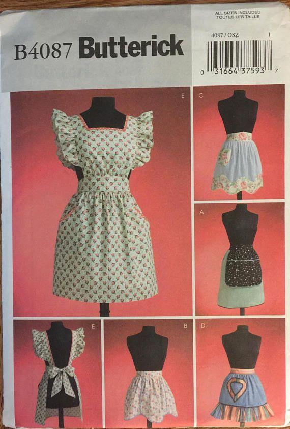Butterick 4087 OOP 1950/'s  VINTAGE APRONS!!!