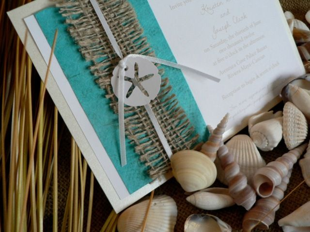 Maritime Hochzeitskarten Handgemacht Leinenstoff Sterne Karten