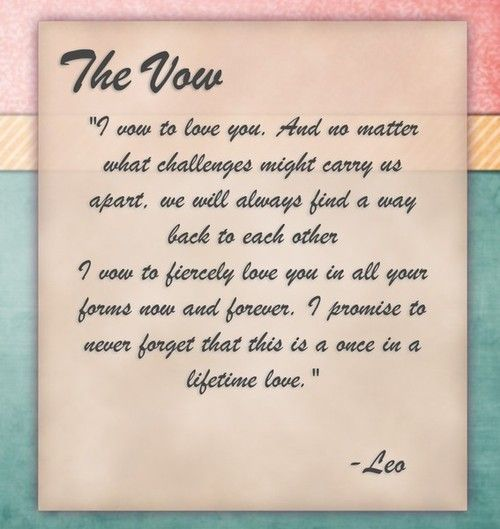 The Vow ♥ Channing Tatum/Leo Is The Most Amazing Person