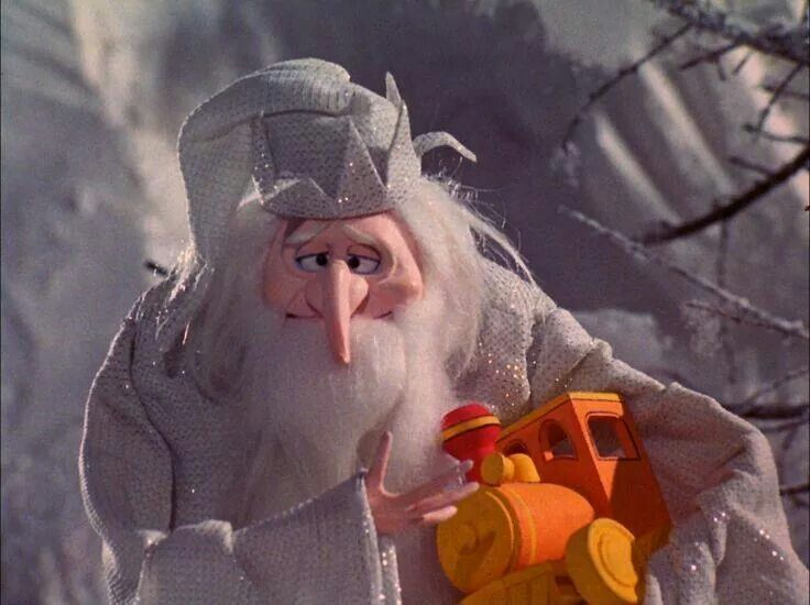 The Winter Warlock Wasn T Such A Bad Guy After All From Santa Claus Is Coming To Town Santa Claus Is Coming To Town Winter Warlock Holiday Cartoon