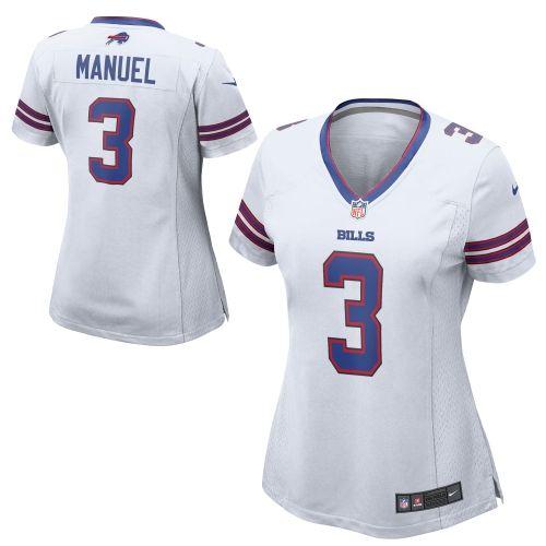 Nike EJ Manuel Buffalo Bills Ladies Game Jersey – White