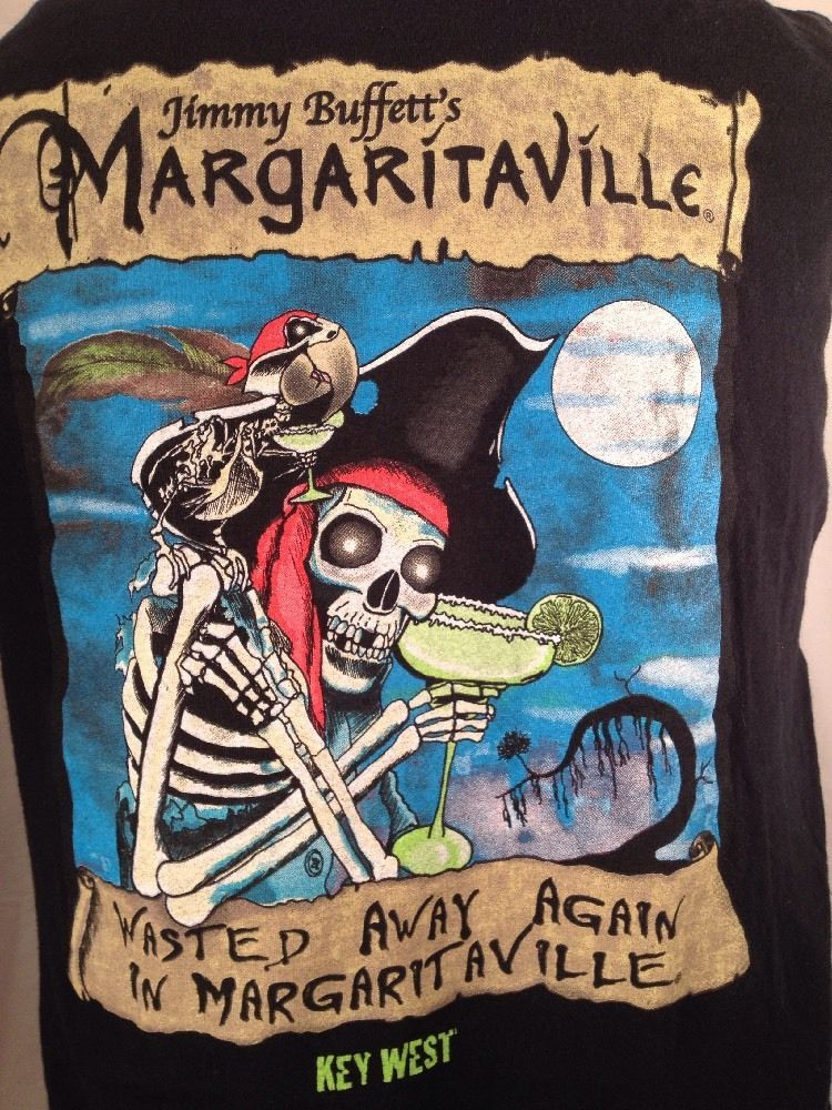 Margaritaville Halloween Pirate Skeleton Shirt LS Tshirt XL Buffett Parrotheads #Margaritaville #GraphicTee