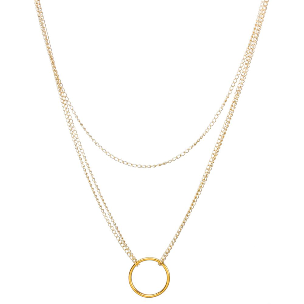 Karma Triple Chain Necklace, Gold Dipped | Dogeared