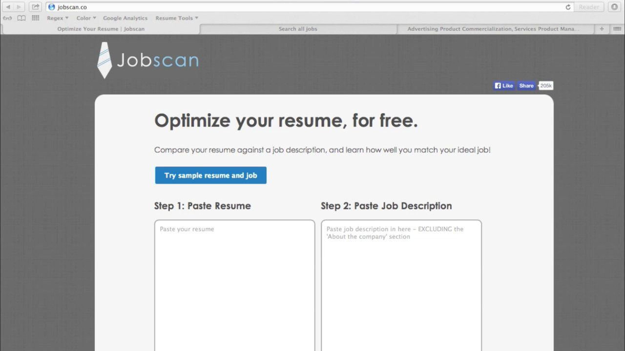 Optimize Your Resume Jobscan Paste Your Resume And The Job