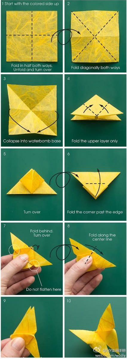 Origami mariposas de papel ideas origami borboleta for Adornos navidenos origami paso a paso