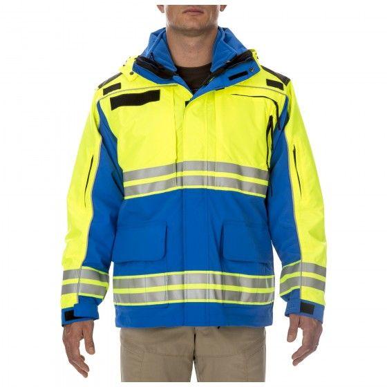 Responder Hi Vis Parka Men S In Royal Blue Tactical Jacket Tactical Uniforms Jackets