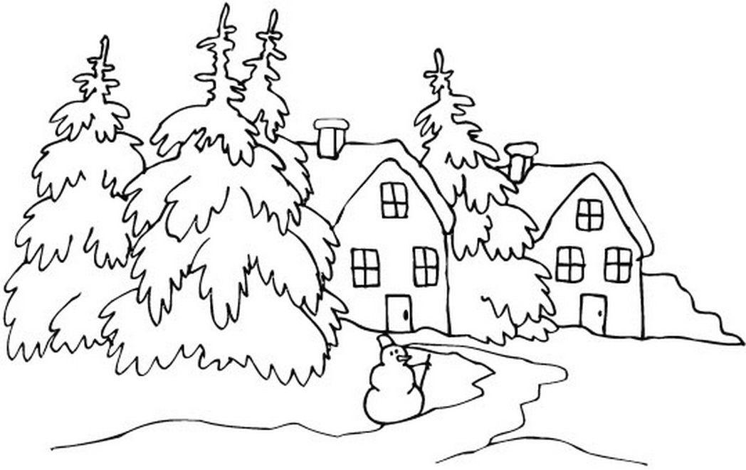 Зимние картинки для детей раскраски