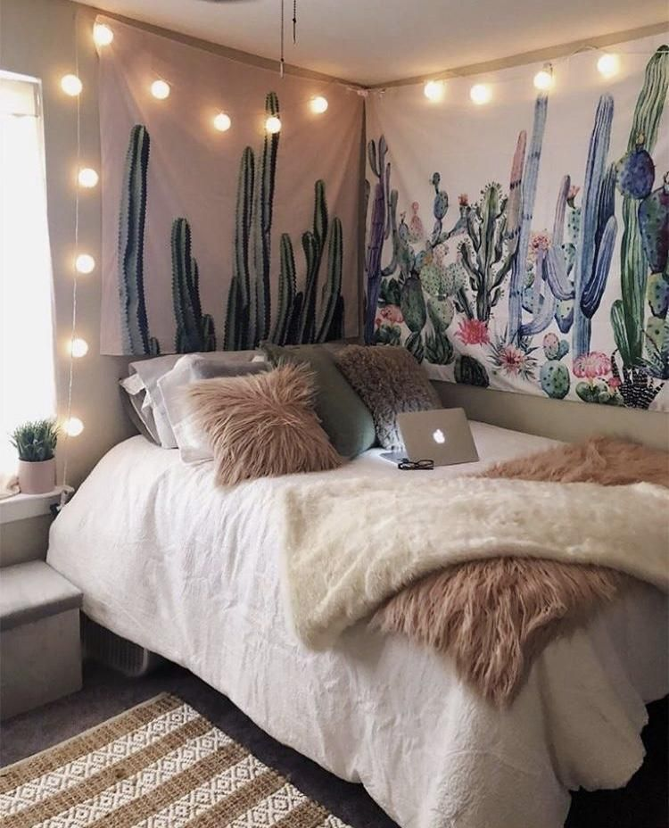 The Cactus Tapestry Boho Dorm Room Dorm Room Decor Room Decor