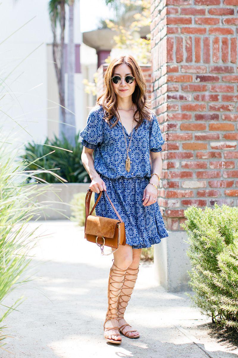Outfit Ideas, Style Inspiration, Summer Fashion, Chloe Faye Bag, Stuart Weitzman Gladiator Sandals