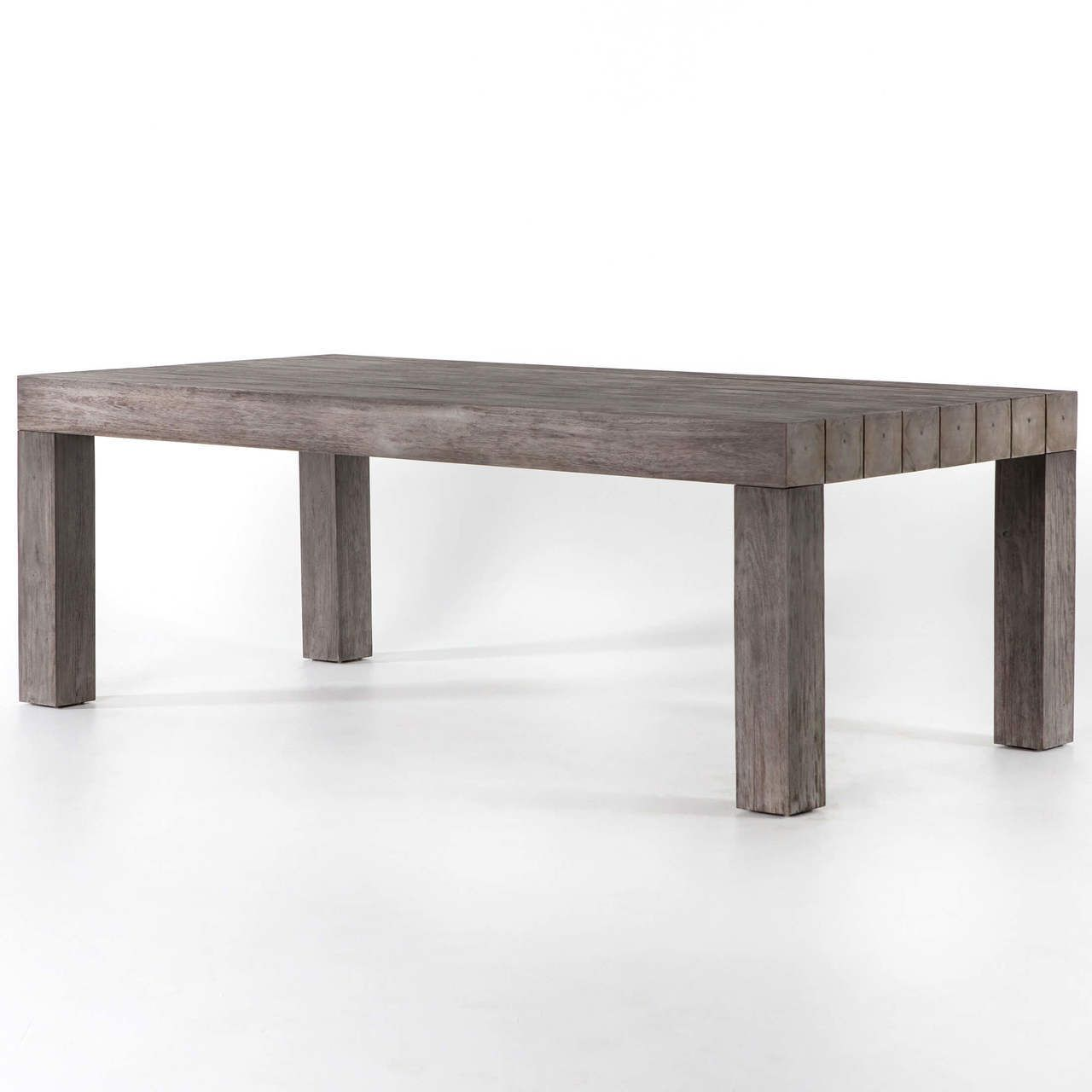 Sonora Grey Teak Wood Outdoor Dining Table 87 Dining Table