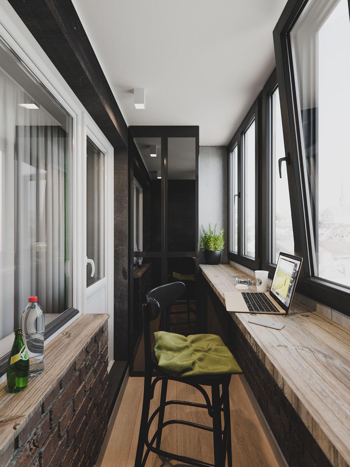 Living Room Balcony Design: Loft Interiors, Apartment