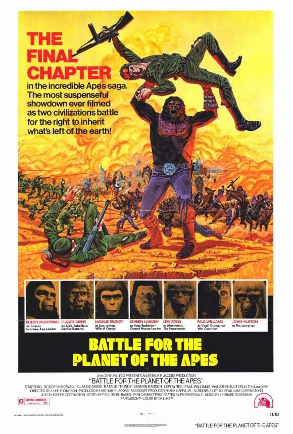 Battle For The Planet Of The Apes 27x40 Movie Poster 1973