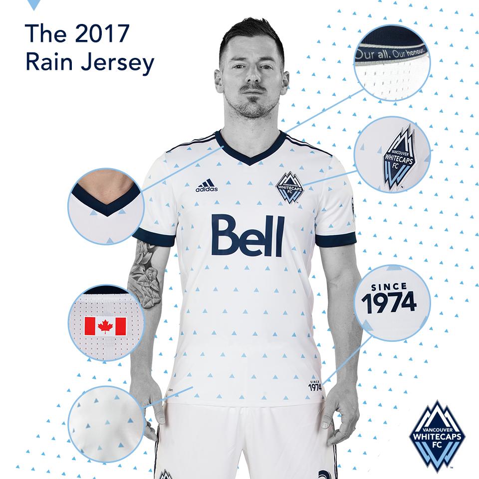 Rain Jersey: Camisas do Vancouver Whitecaps 2017 Adidas MLS