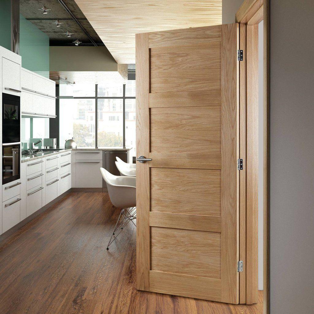 Deanta Coventry Shaker Style Oak Door, Unfinished
