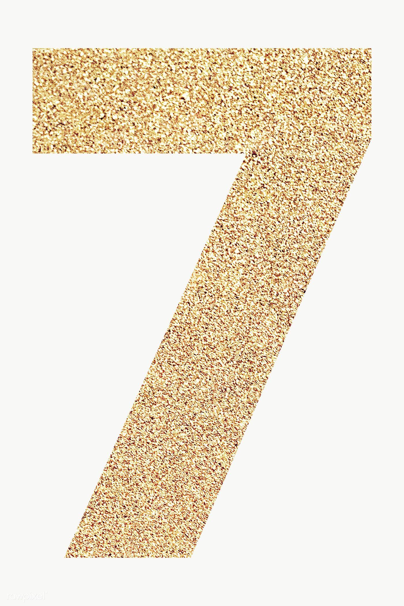Glitter Gold Number 7 Typography Transparent Png Free Image By Rawpixel Com Ningzk V Image Glitter Gold Number Sparkle Png