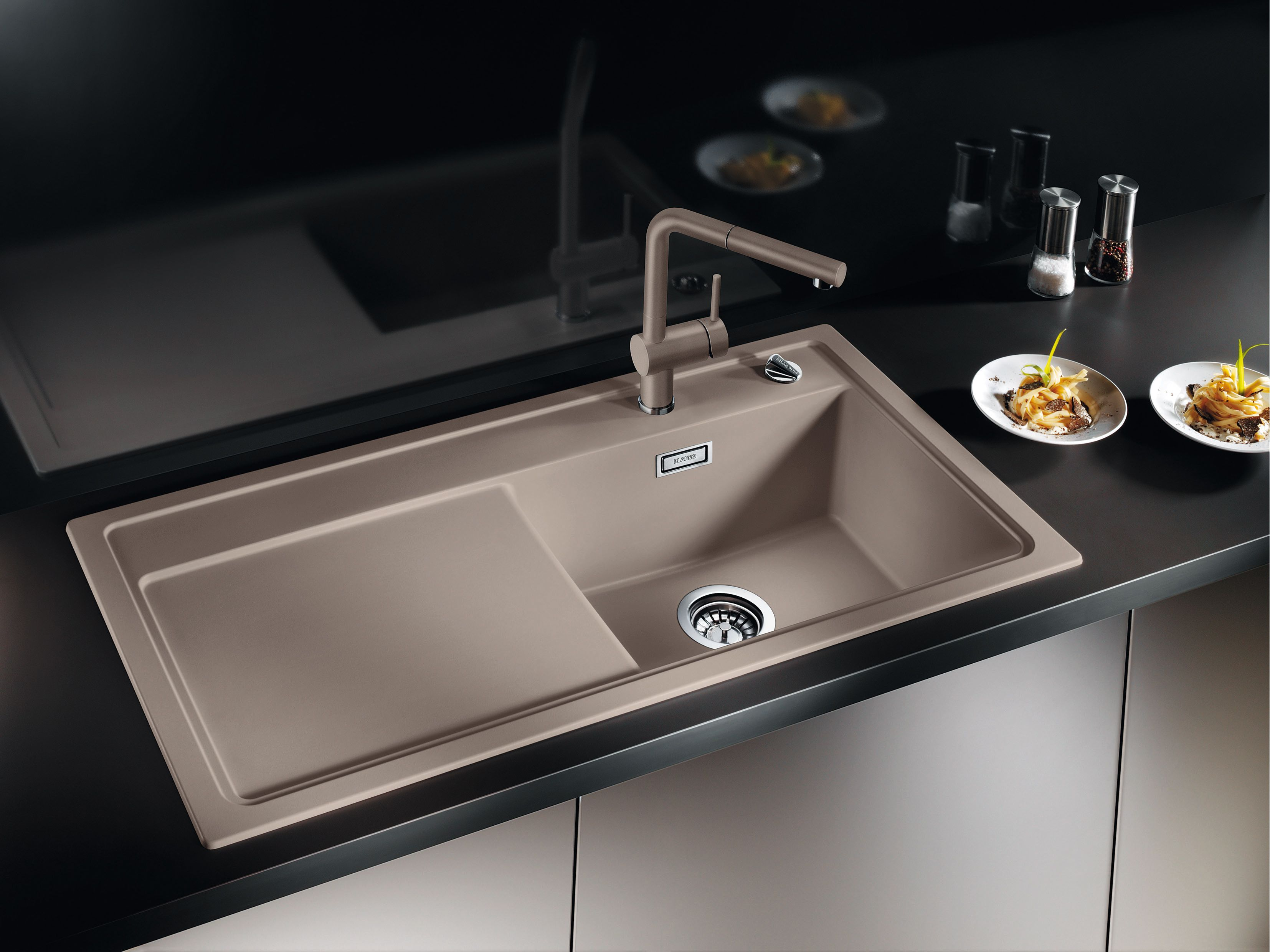The Latest Sink Colours For New Home Living Trends Blanco Pertaining To  Blanco Silgranit Kitchen Sink
