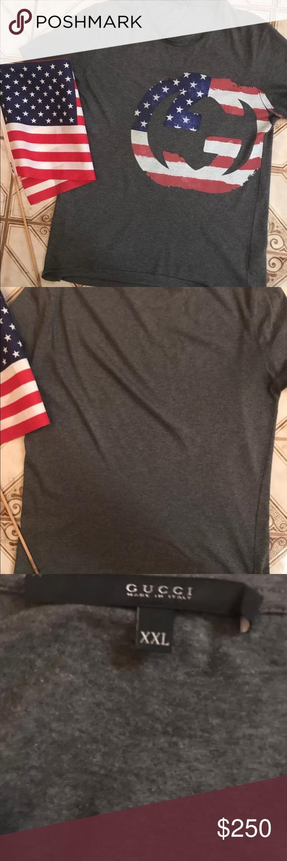 8d3b7dbec6e3d5 Gucci American Flag T Shirt (Vinatge) This is a Pre-Owned 100 ...