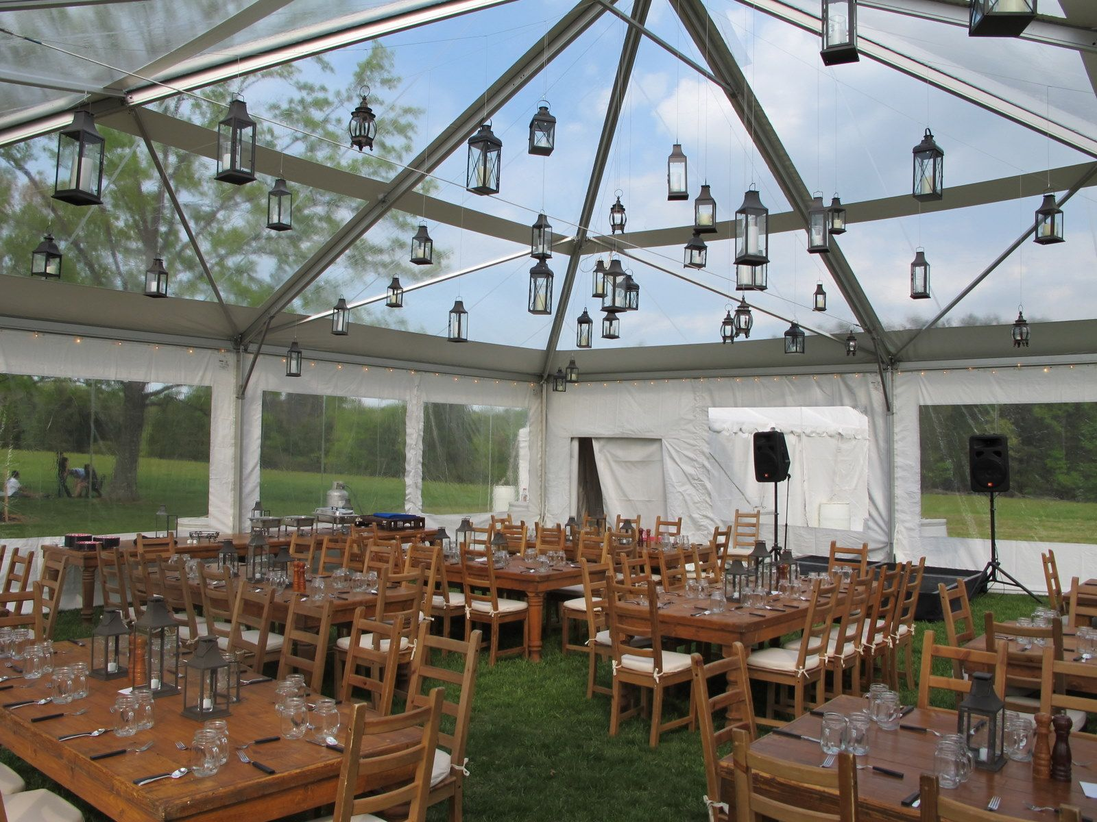 Hanging Lanterns Clear Tent // Skyline Tent Company & Hanging Lanterns Clear Tent // Skyline Tent Company | Custom ...