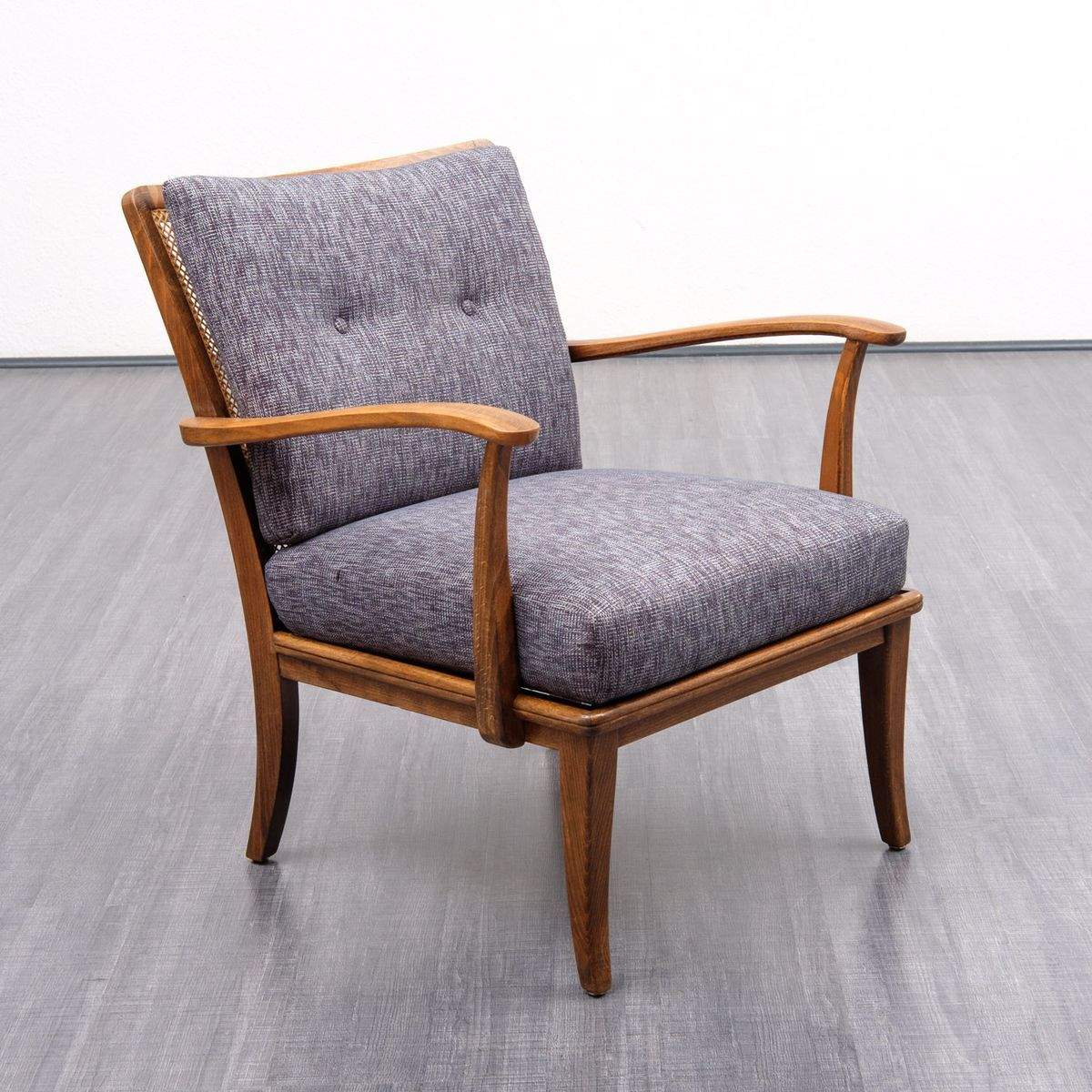 Design Ohrensessel Sessel Mit Bast 1950er In 2019 Sessel Armchair Accent