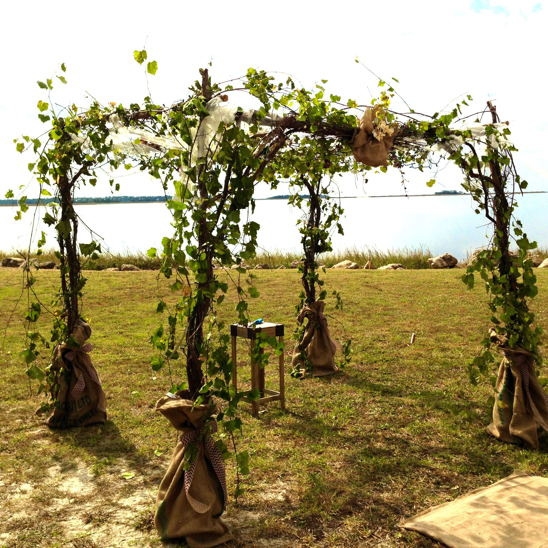 Outdoor Wedding Bathroom Ideas: Rustic Outdoor Wedding Chuppah Or Arbor