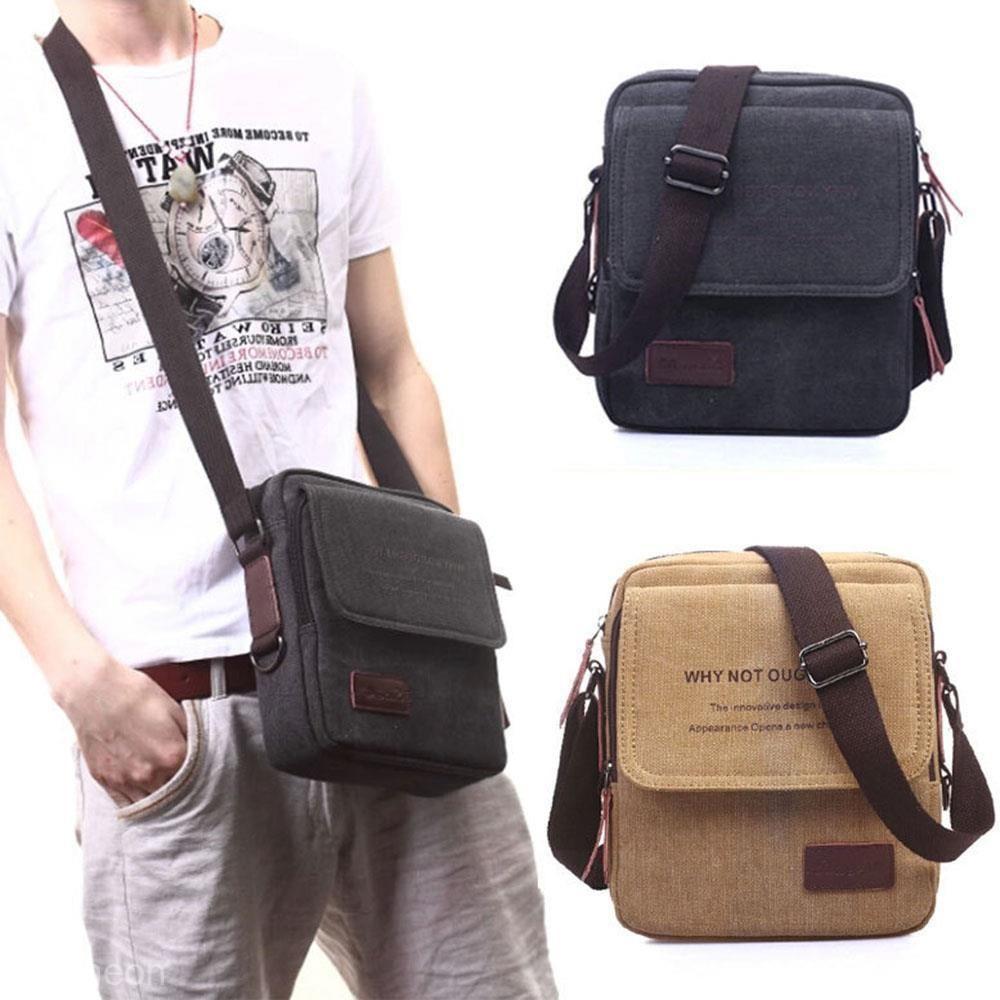 13.01 AUD - Men s Vintage Canvas School Shoulder Military Messenger Travel Satchel  Bag  ebay  Fashion a47535fa92