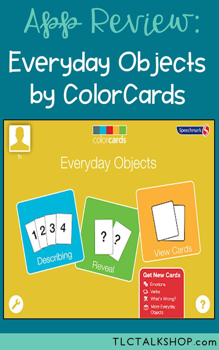 App Review Everyday Objects by Color Cards Speech