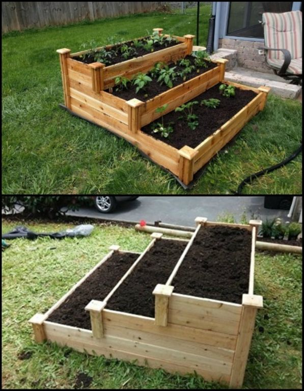 Enjoy Gardening Without The Breaking Your Back With This Tiered Cedar Raised Garden Bed Raised Garden Vegetable Garden Raised Beds Raised Garden Beds