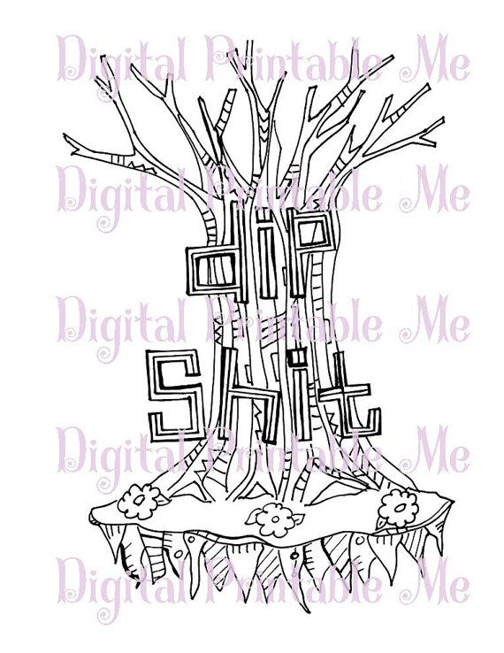 Swear Word Coloring Sheet Page Printable Dip By