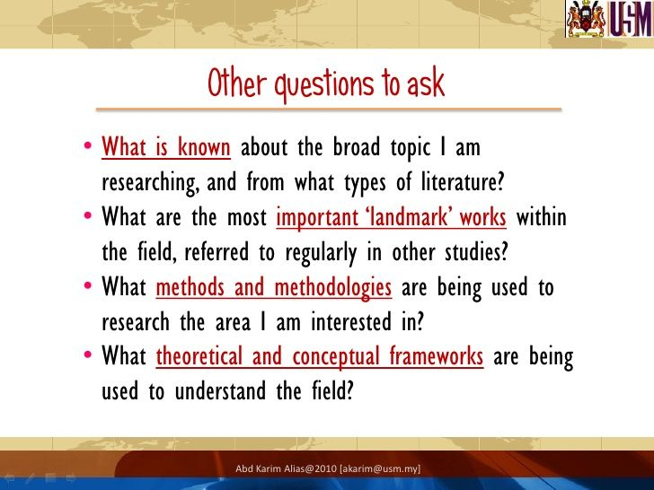 Writing scientific literature review
